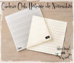 Cadeau Club Hôtesse de Novembre