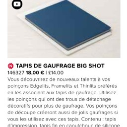 Tapis de gaufrage Big Shot