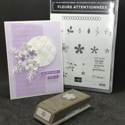 Carte Calque et fleurs Sale-a-bration